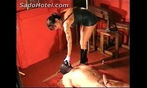 Shake out ties balls of depending and give him a tugjob
