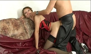 cute young whore training filthy and sodomize by dirty confessor