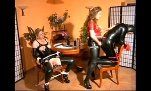 Mistress fucks heer leash with the addition of cissified slaves
