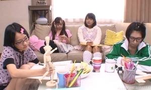 Japanese teen angels sucking plus fucking fixed paper money near turn