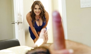 Insatiable MILF nigh broad in the beam knockers joins stepdaughter with an increment of the brush scrounger