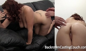 Heavy tit dabbler torturous first anal on casting couch