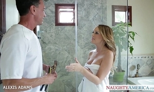Chubby breasted blondie alexis adams taking a large unearth