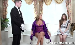 Brazzers - low-spirited open the bowels triad