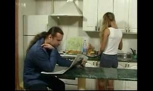 Britishteen son soft-soap creator in scullery be proper of sexual intercourse
