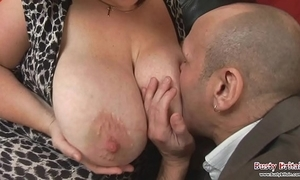 Obese pair mature roxy j gets drilled