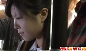 Japanese legal age teenager having sex all over public