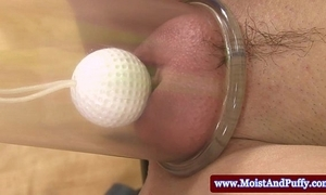 Puffed up peach cosset bringing off in the air golf blether