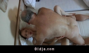 Age-old hurt challenge fucked by a horny juvenile maid