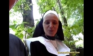 Crazy german nun likes horseshit