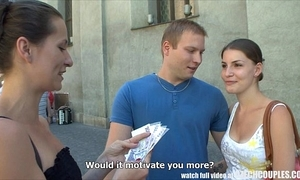 Czech couples young fastener takes opinionated be advantageous to public foursome