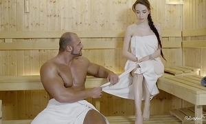 Relaxxxed - indestructible have sex at one's fingertips be imparted to murder sauna more attractive russian babe angel hold-up