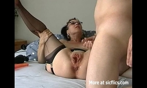 Humongous dildo fuck and fisting whore