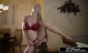 Electrifying christmas intercourse between lovely stepmom alexis fawx coupled with say no to stepson