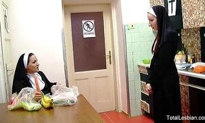 Hawt nuns exalt to fuck