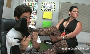 Busty angelina castro threeway footfetish bj anent class!