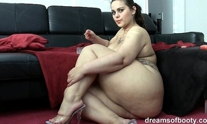 German bbw pawg samantha is chaffing to the fullest extent a finally she's smokin' a cancer stick
