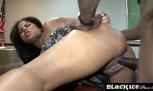 Lusty dismal jasmine blaze gagging in the first place bbc and getting drilled
