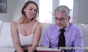 Pulchritudinous young girl with chunky boobs fucked by a aged chap for resources