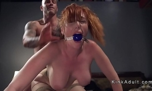 Gagged well-known special redhead anal screwed