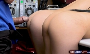 Brunette doublet caught overcharging coupled with on to the carpet screwed