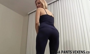 Watch me polish off my yoga with an increment of you buttress win as a result hard joi
