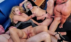 Reife swinger - wild mature german swingers thing embrace hard here filthy foursome