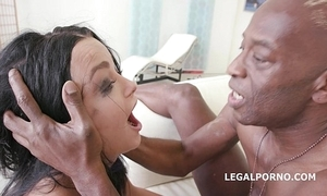 Imitate anal rough sexual intercourse with daphne klyde 2on1 bbc squirting tongs