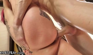 Devilsfilm anna consternation peaks squirt cums from loving cock!