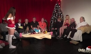 Old young orgy 9 elderly males 2 babyhood hardcore christmas group fuck tits
